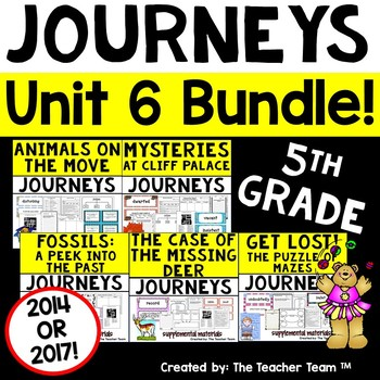 Journeys 5th Grade Unit 6 Supplemental Activities & Printables CC  2014
