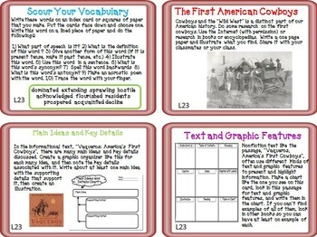 Journeys 5th Grade Units 1-6 Full Year Task Cards Supplemental Materials 2011