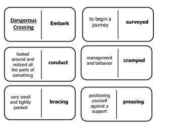 Journey's 5th Grade Vocabulary Dominoes Dangerous Crossing