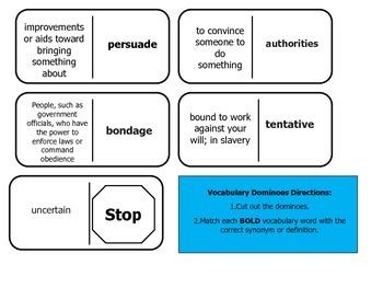 Journey's 5th Grade Vocabulary Dominoes James Forten