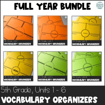Journeys 5th Grade Vocabulary Frayer Bundle and SMART Notebook FULL YEAR NO PREP