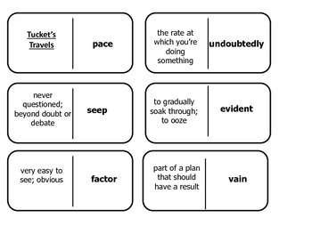 Journey's 5th Grade Vocabulary Tucket's Travels