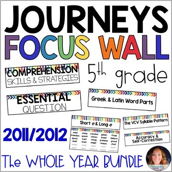 Journeys 5th Grade WHOLE YEAR Focus Wall Supplement 2011/2012
