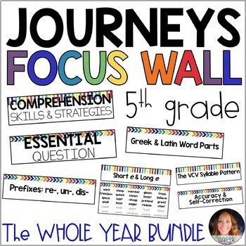 Journeys 5th Grade WHOLE YEAR Focus Wall Supplement 2014/2017
