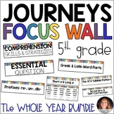 Journeys 5th Grade WHOLE YEAR Bundle: Focus Wall Supplement