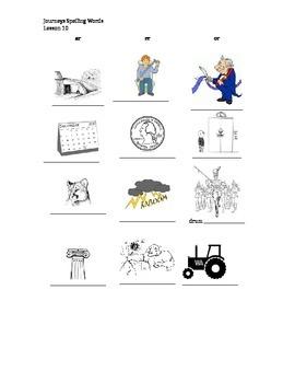 Journeys 5th grade Spelling Lesson 10