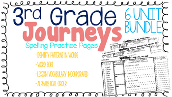 Journeys: 6 Unit Spelling Practice Bundle