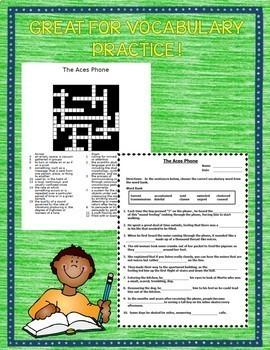 Journeys 6th Grade Cloze - Crossword Puzzles Units 1-6 2017 Full Year Bundle