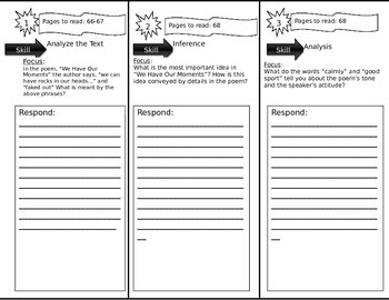 Journeys 6th Grade Common Core~ The ACES Phone Trifold Close Read