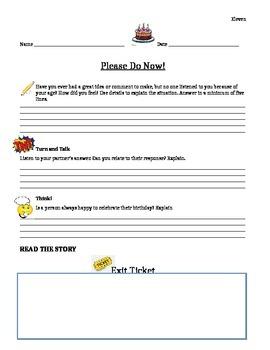 Journeys 6th Grade Common Core~Eleven Please  Do Now