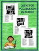 Journeys 6th Grade Crossword Puzzle Units 1-6 2017 Edition Full Year