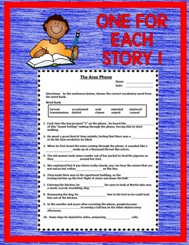 Journeys 6th Grade CLOZE Fill in the Blank Worksheets 2017 Full Year Bundle