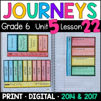 Journeys 6th Grade Lesson 22: First to Fly (Supplemental & Interactive Pages)