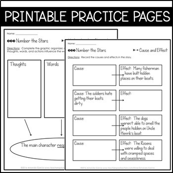 Journeys 6th Grade Lesson 23: Number the Stars (Supplemental & Interactive Pgs)