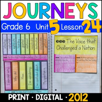 Journeys 6th Grade Lesson 24: The Voice that Challenged a Nation (Supplements)
