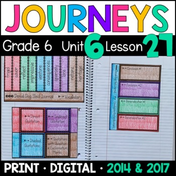 Journeys 6th Grade Lesson 27: Denali Dog Sled Journal (Supplemental/Interactive)