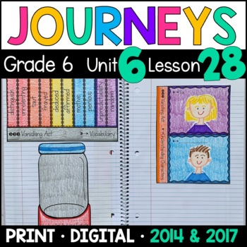 Journeys 6th Grade Lesson 28: Vanishing Act (Supplemental