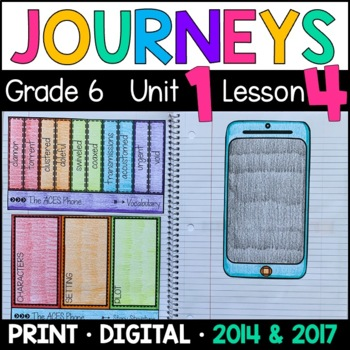 Journeys 6th Grade Lesson 4: The ACES Phone (Supplemental & Interactive Pages)
