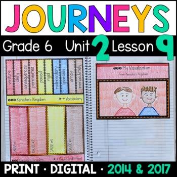 Journeys 6th Grade Lesson 9: Kensuke's Kingdom (Supplemental & Interactive Pgs)