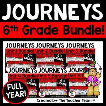 Journeys 6th Grade Unit 1-6 Full Year Bundle Supplement Materials CC 2014