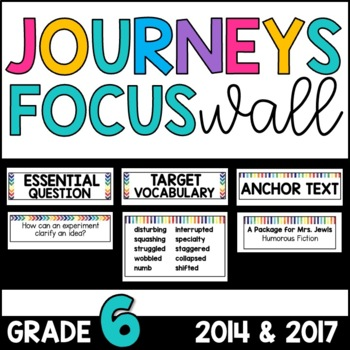 Journeys 6th Grade Unit 1 FOCUS WALL Supplement