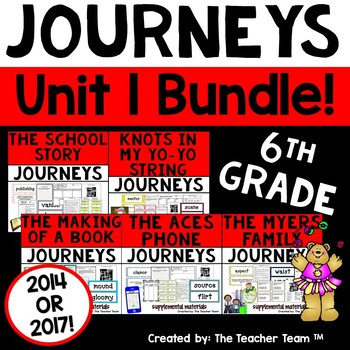 Journeys 6th Grade Unit 1 Supplemental Materials 2014