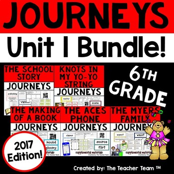 Journeys 6th Grade Unit 1 Supplemental Activities & Printables 2017