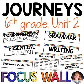 Journeys 6th Grade Unit 2 FOCUS WALL Supplement