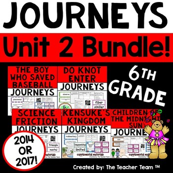 Journeys 6th Grade Unit 2 Supplemental Activities & Printables CC  2014
