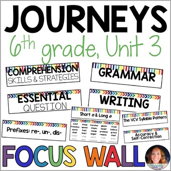 Journeys 6th Grade Unit 3 FOCUS WALL Supplement