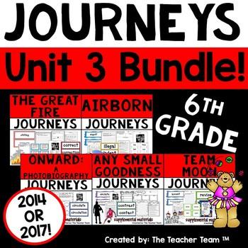 Journeys 6th Grade Unit 3 Supplemental Activities & Printables 2014