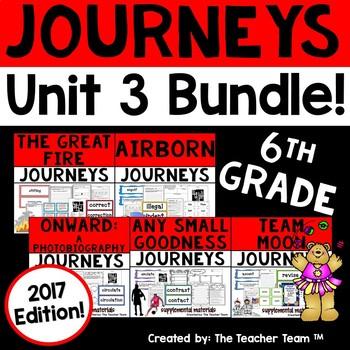 Journeys 6th Grade Unit 3 Supplemental Activities & Printables 2017