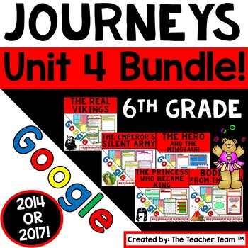 Journeys 6th Grade Unit 4 Bundle Supplemental Resources Google Drive Resource
