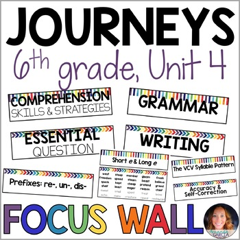 Journeys 6th Grade Unit 4 FOCUS WALL Supplement 2014/2017