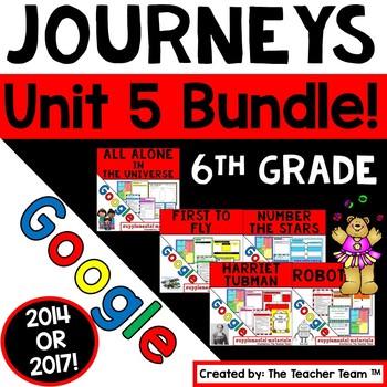 Journeys 6th Grade Unit 5 Bundle Supplemental Resources Google Drive Resource