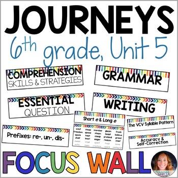 Journeys 6th Grade Unit 5 FOCUS WALL Supplement