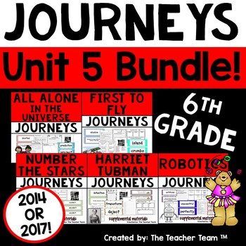 Journeys 6th Grade Unit 5 Supplemental Activities & Printables CC 2014