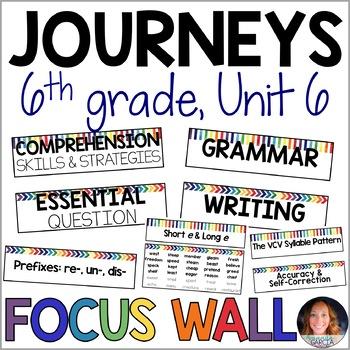 Journeys 6th Grade Unit 6 FOCUS WALL Supplement