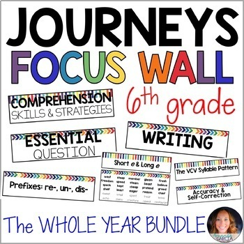 Journeys 6th Grade WHOLE YEAR Focus Wall Supplement 2014/2017