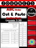 Journeys ABC Order Cut& Paste Spelling Words-1st grade