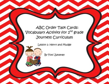 ABC Order Task Cards for Journeys Grade 2