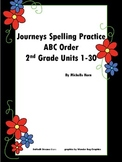 Journeys ABC Order with Spelling Words Grade 2