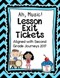 Journeys-Ah, Music! Exit Tickets