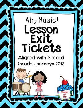 Journeys-Ah, Music! Exit Tickets