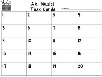 Journeys Ah, Music! Vocabulary, Phonics, and Grammar Task Cards