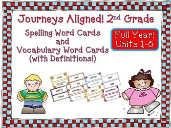 Journeys 2nd Grade Vocabulary and Spelling Word Cards 2011