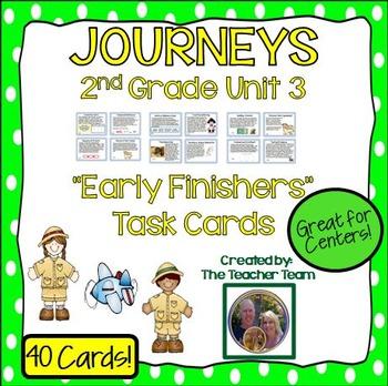 Journeys 2nd Grade Unit 3 Task Cards Supplemental Materials 2011 version