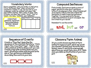 Journeys 2nd Grade Unit 3 Task Cards Supplemental Materials 2011 version