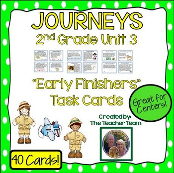 Journeys 2nd Grade Unit 3 Early Finishers Task Cards 2011