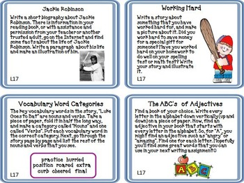 Journeys 2nd Grade Unit 4 Lessons 16 through 20 Task Cards 2011